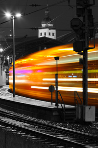 480x854 Long Exposure Train 4k