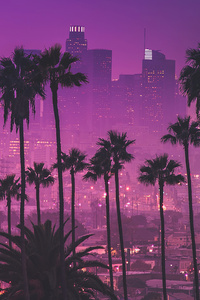 Los Angles Synthwave 4k