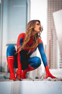 1080x2160 Lost In The Spiderverse Girl Cosplay