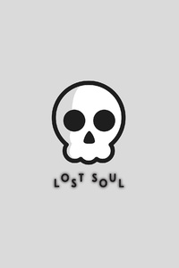 480x854 Lost Soul White Background Minimal 4k