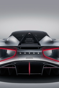 1280x2120 Lotus Evija 2019 Rear