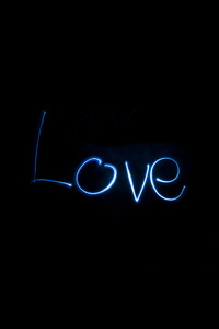 480x854 Love Long Exposure Typography