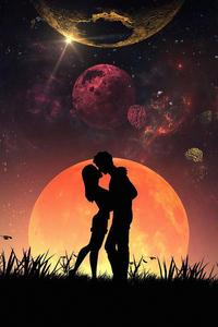 1242x2688 Lovers Romance 4k