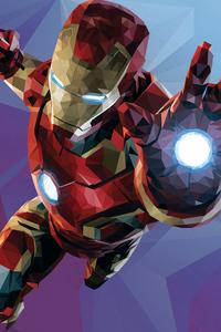 Low Poly Iron Man Graphic Design 4k