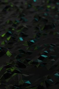 Low Poly Neon Metal 4k
