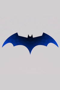 1080x2280 Low Polygon Batman Logo