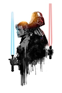 Luke And Darth Vader Artwork