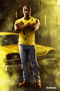 640x960 Luke Cage In The Defenders Artwork