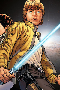 Luke Skywalker Han Solo Princess Leia Artwork