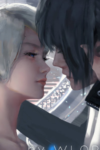LunaFreya and Noctis Artwork By Wlop Final Fantasy