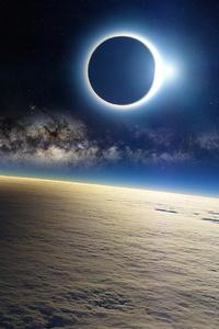 480x854 Lunar Sky Space 4k