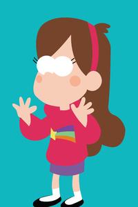 Mabel In Gravity Falls Minimalism 8k