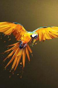Macaw Low Poly Digital Art 4k