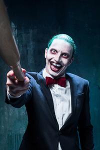 Mad Joker With Baseball Cosplay