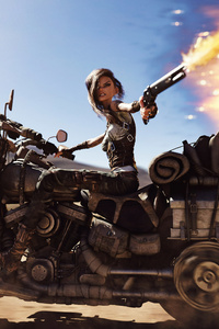 540x960 Mad Max Biker Anime Girl