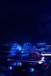 Madza Rx7 Neon Wolf Night Artwork