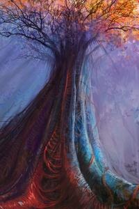 Magic Tree Painting 4k