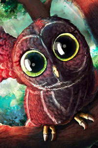 Magical Eyes Owl Digital Art