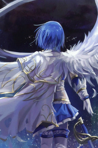 1080x1920 Mahou Shoujo Madoka Magica Blue Hair Anime 4k