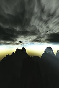 Majestic Nature Storm Rays Sun