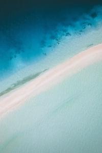 Maldives Island Aerial View 4k
