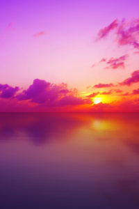 1080x2280 Maldivian Sunset 4K