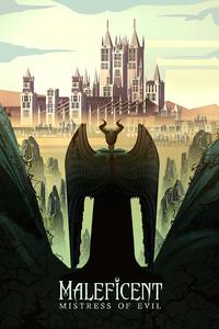 320x568 Maleficent Mistress Of Evil Poster Art 4k