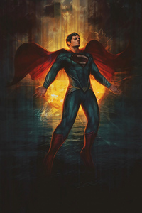 540x960 Man Of Steel Art 4k