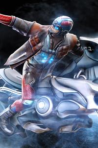 Man On Scifi Bike Gun 5k