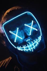 Man Wearing Blue Mask