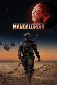 Mandalorian Poster Cover Art 4k