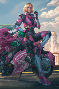 Manga Punk Scifi Anime Motorcycle Girl