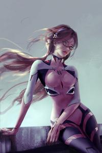 240x320 Mari Illustrious Makinami Evangelion