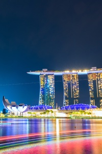 800x1280 Marina Bay Sands Singapore 5k
