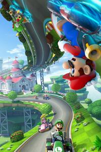 1080x2280 Mario Kart 8