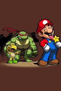 1125x2436 Mario Koopa Ninja 4k