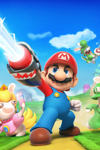 320x480 Mario Rabbids Kingdom Battle