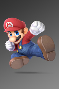 480x854 Mario Super Smash Bros Ultimate 5k
