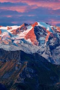 Marmolada Glacier In Italy 8k