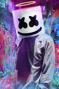 1080x2280 Marshmello 2020 Mask 4k