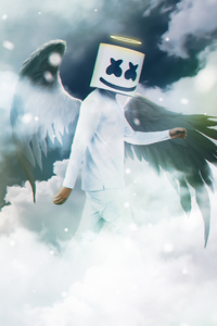 240x320 Marshmello Angel 4k