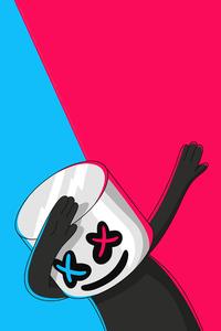 1080x1920 Marshmello Cartoonic Art 4k