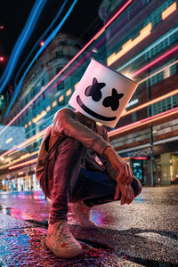1440x2960 Marshmello City Lights 5k