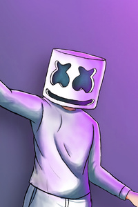 Marshmello Digital Art 4k
