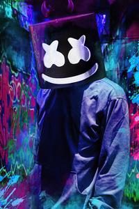 640x1136 Marshmello Mask 2021 4k