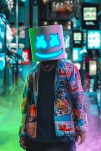 Marshmello Neon 4k