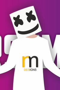 Marshmello Vector Art 10k