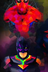 Marvel And Dc Low Poly Art