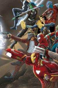 480x800 Marvel Avengers Infinity War Fan Art