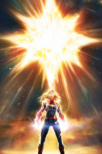 1125x2436 Marvel Captain Marvel